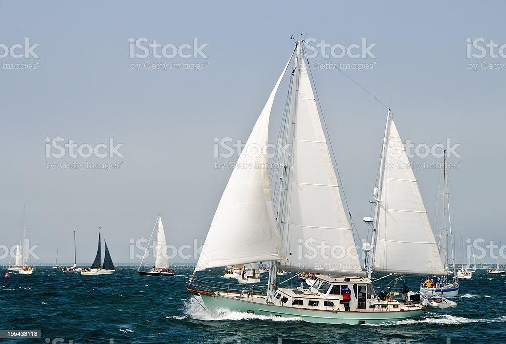 Nantucket Sailboat Race stock photo