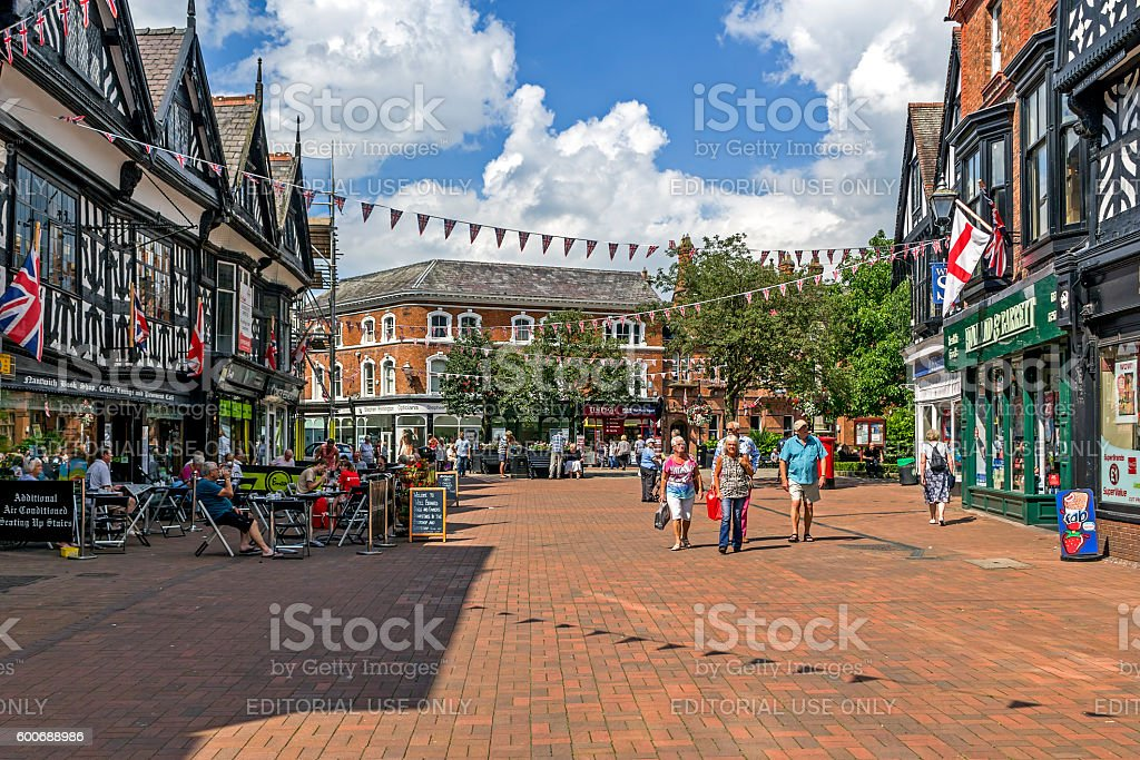 Nantwich Town Centre stock photo