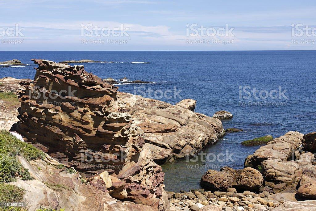 Nanya Peculiar Rocks royalty-free stock photo