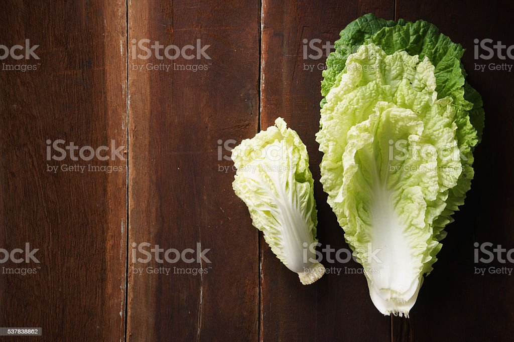 napa cabbage, Chinese cabbage stock photo