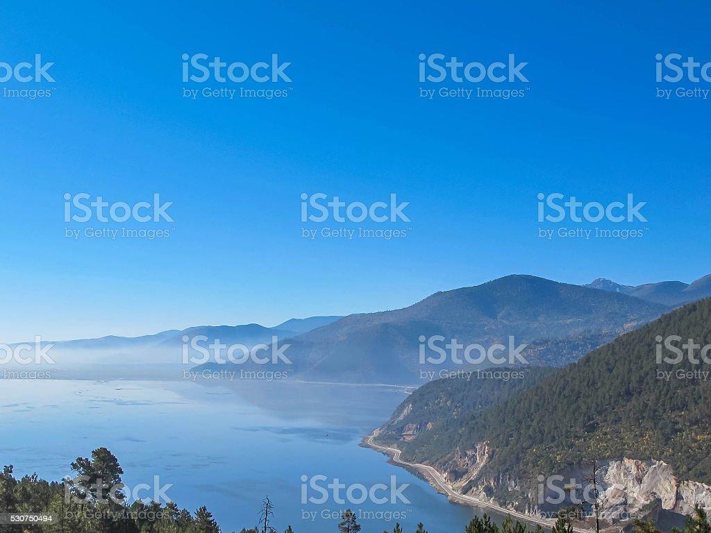 Napa Lake in Shangri-La, Yunnan, China stock photo