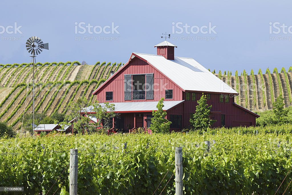 Napa Valley Farmhouse royalty-free stock photo