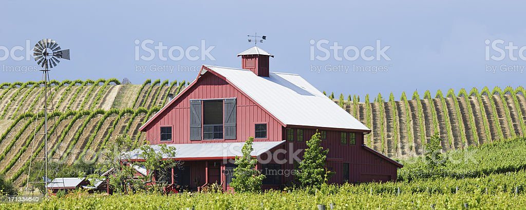 Napa Valley Farmhouse stock photo