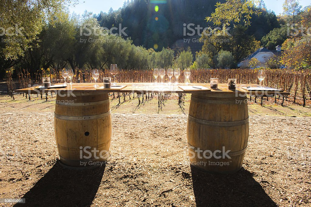 Napa Valley Wine Tasting stock photo