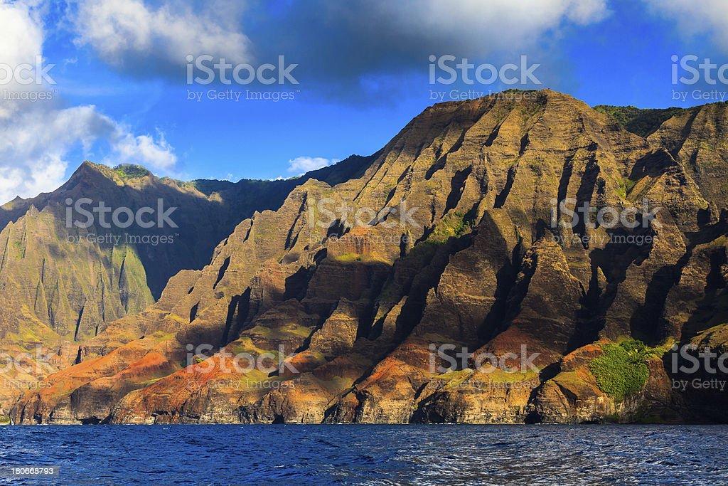 Napali Coast Hills royalty-free stock photo
