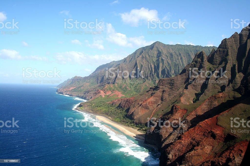 NaPali Coast, Kauai Hawaii stock photo