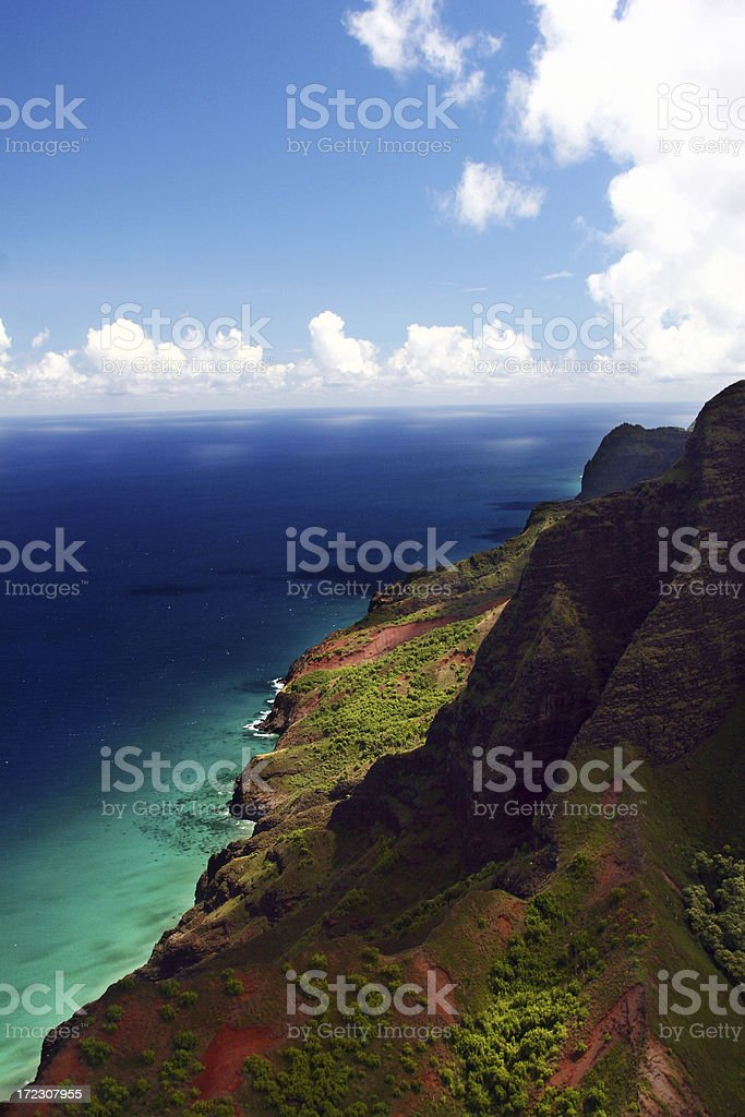 Napali Coastline in Kauai, Hawaii royalty-free stock photo