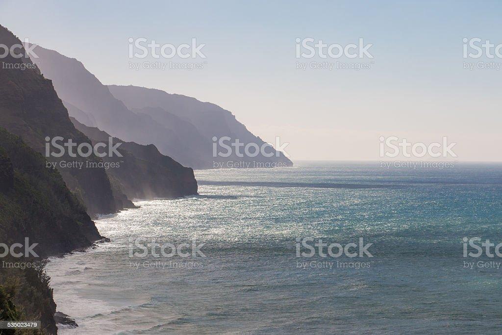 Napali Coastline stock photo