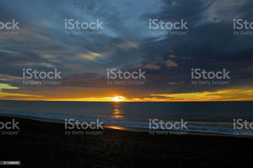 Napier sunrise stock photo