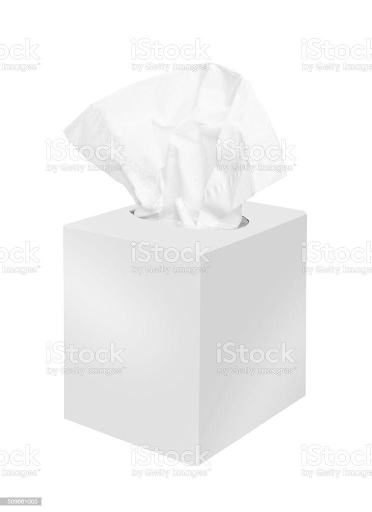 Napkin box stock photo