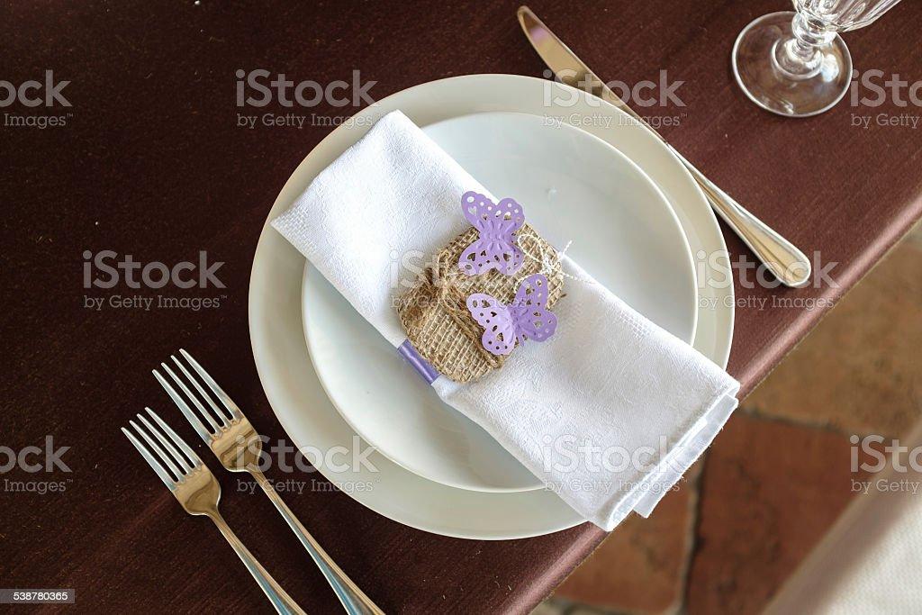 Serviette de table décoration photo libre de droits