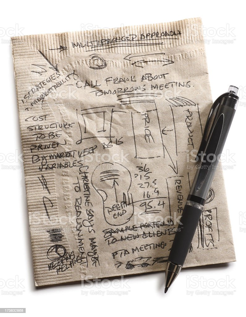 Napkin Doodles stock photo