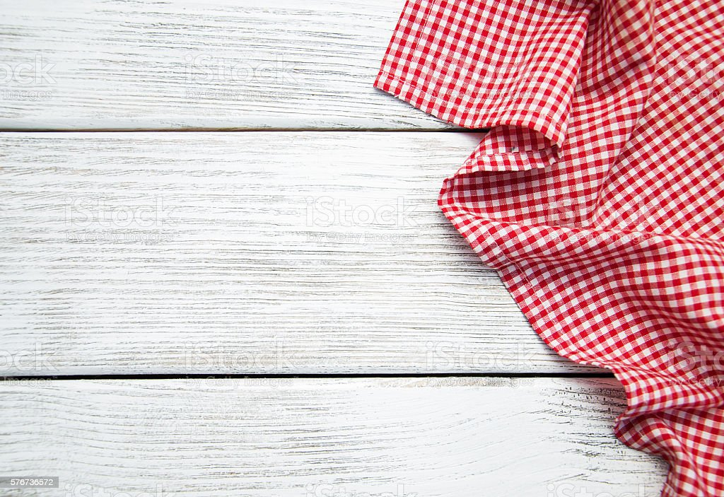 napkin on the wooden background stock photo