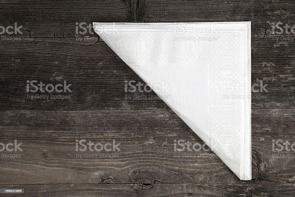 Napkin on wooden table stock photo