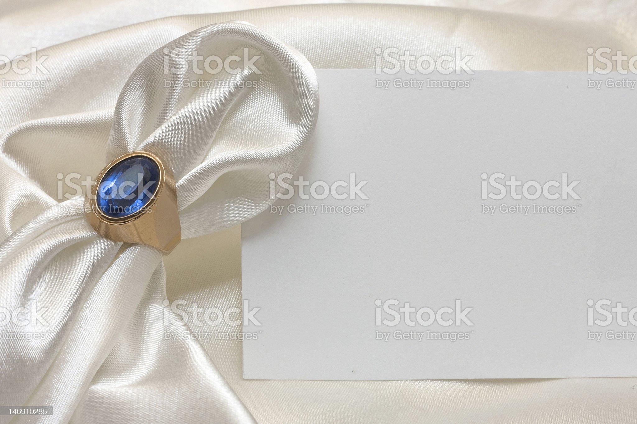 napkin ring and card royalty-free stock photo
