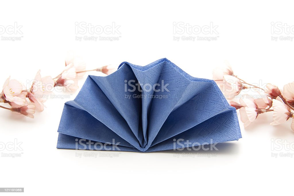 Napkin with flowers stock photo
