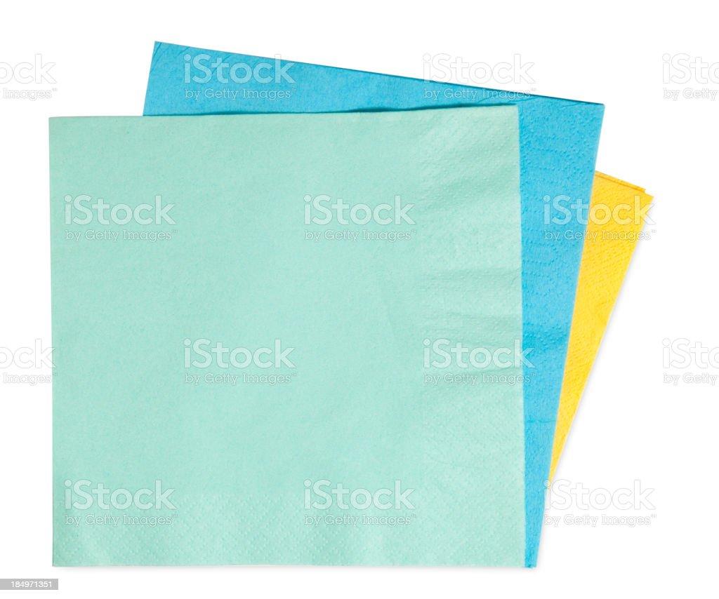 napkins isolated on white background stock photo