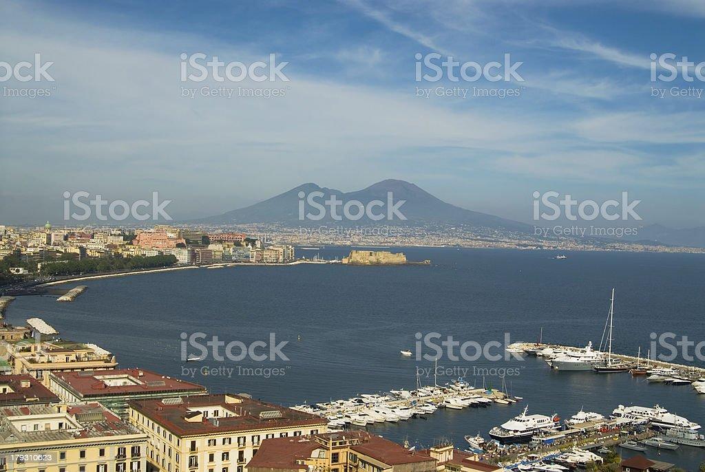 Naples and Mt.Vesuvius royalty-free stock photo