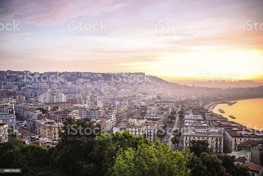 Naples at Sunrise stock photo