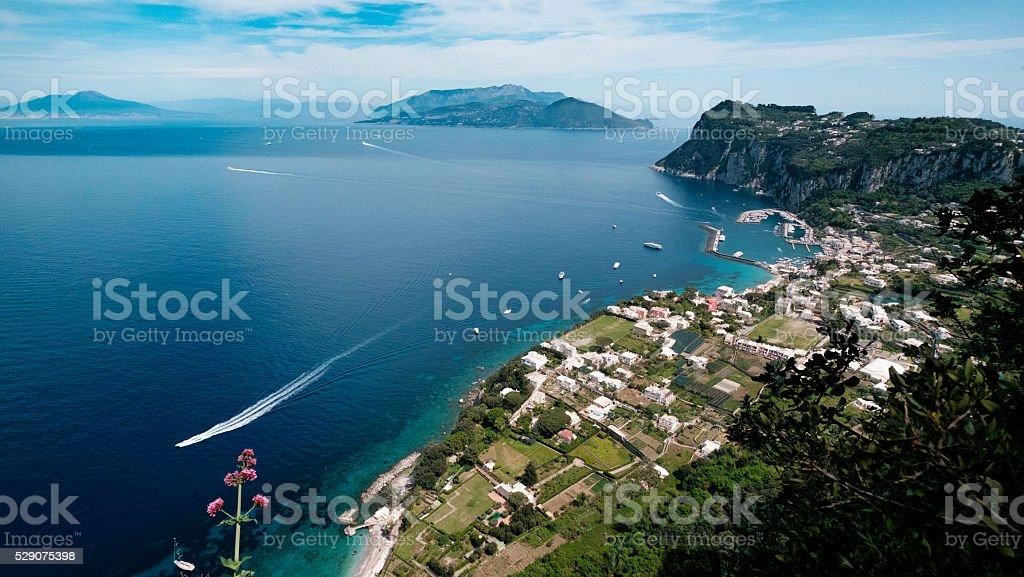 Naples - Bay and Penisola Sorrentina stock photo