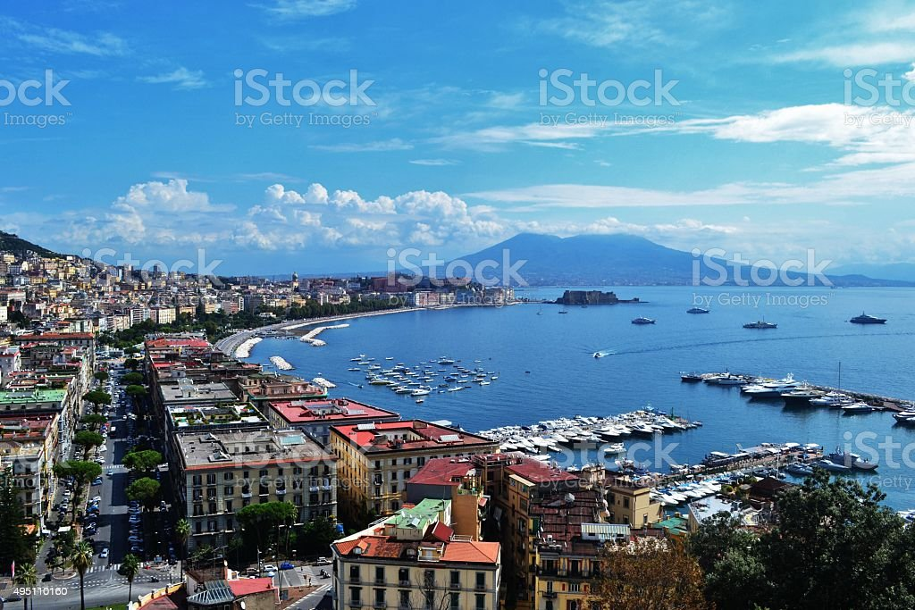 Naples' bay stock photo