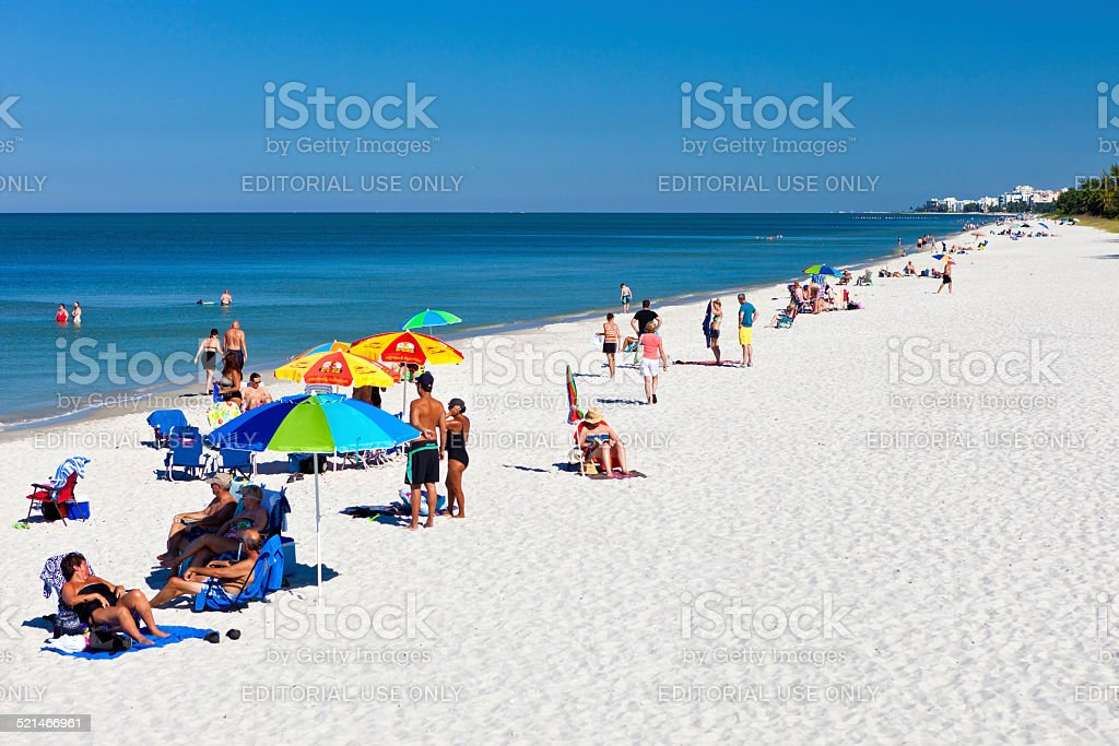 Naples Beach, Florida stock photo