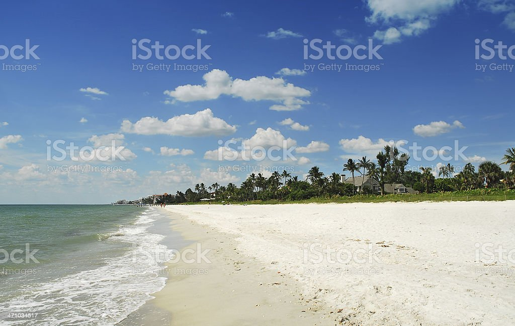 naples beach stock photo
