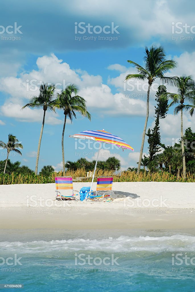 naples beach scene stock photo