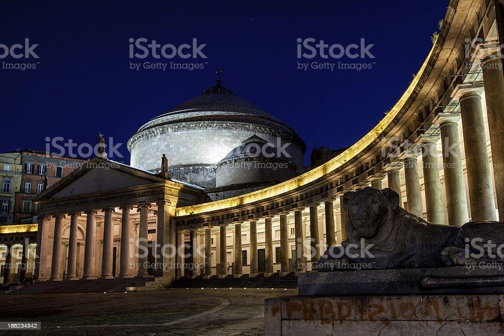 Naples, church of Saint Francesco di Paola stock photo