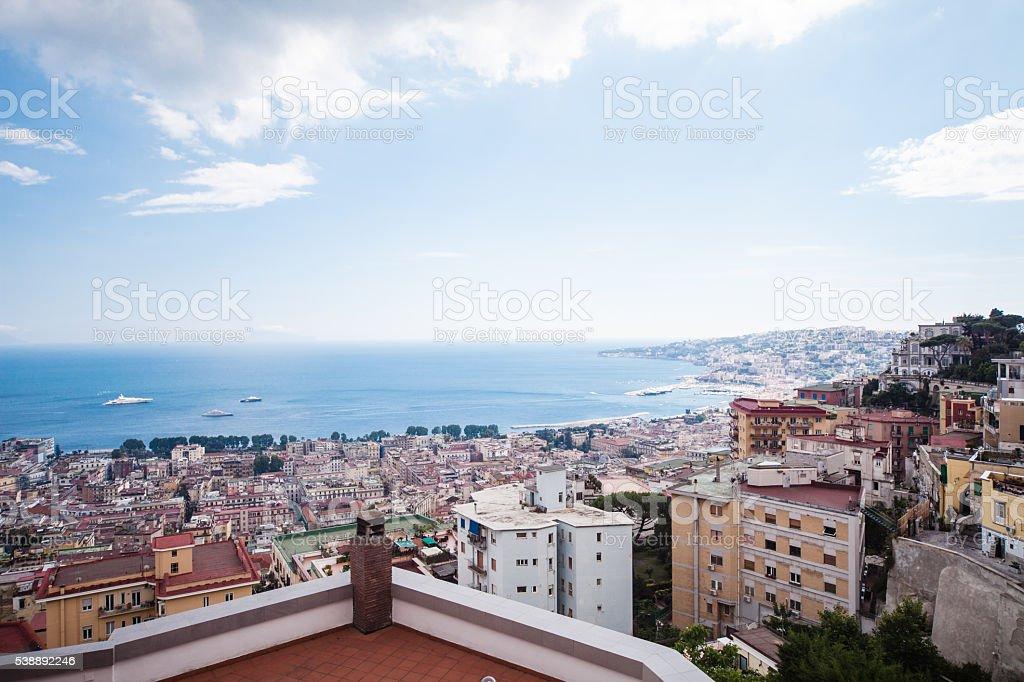 Naples city Landscape stock photo