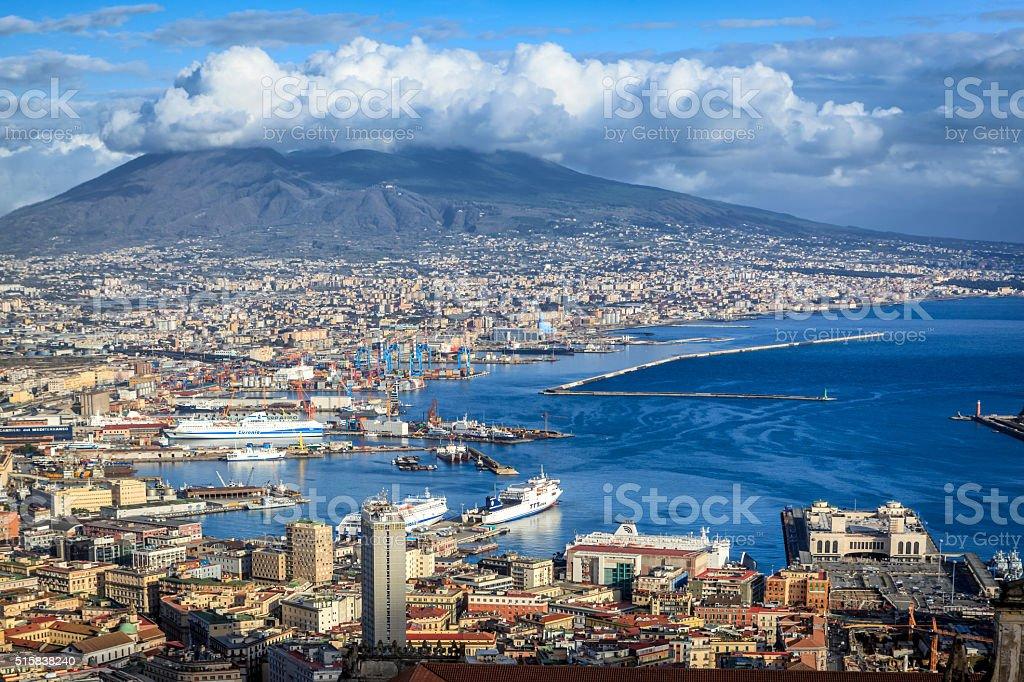 Naples City panorama stock photo