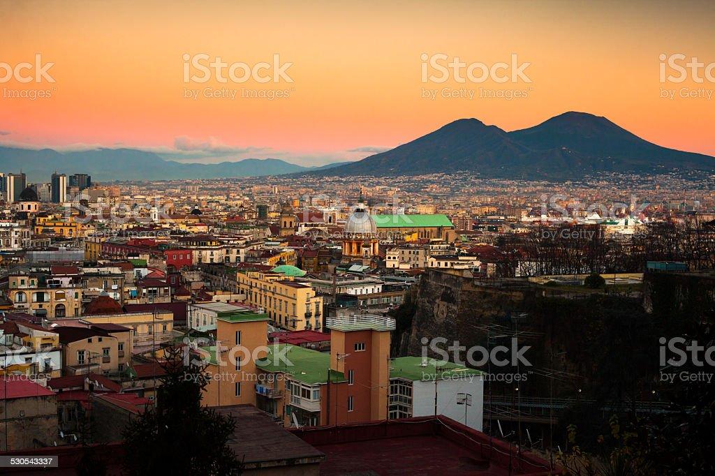 Naples Cityscape with Vesuvio stock photo