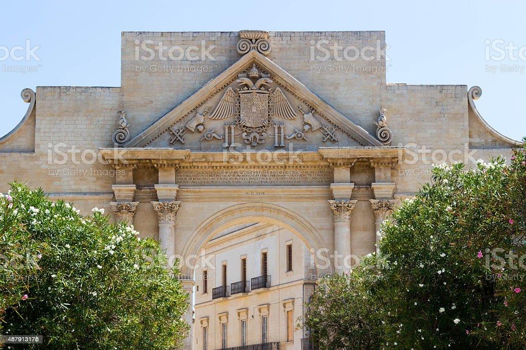 Naples Gate in Lecce 1 stock photo