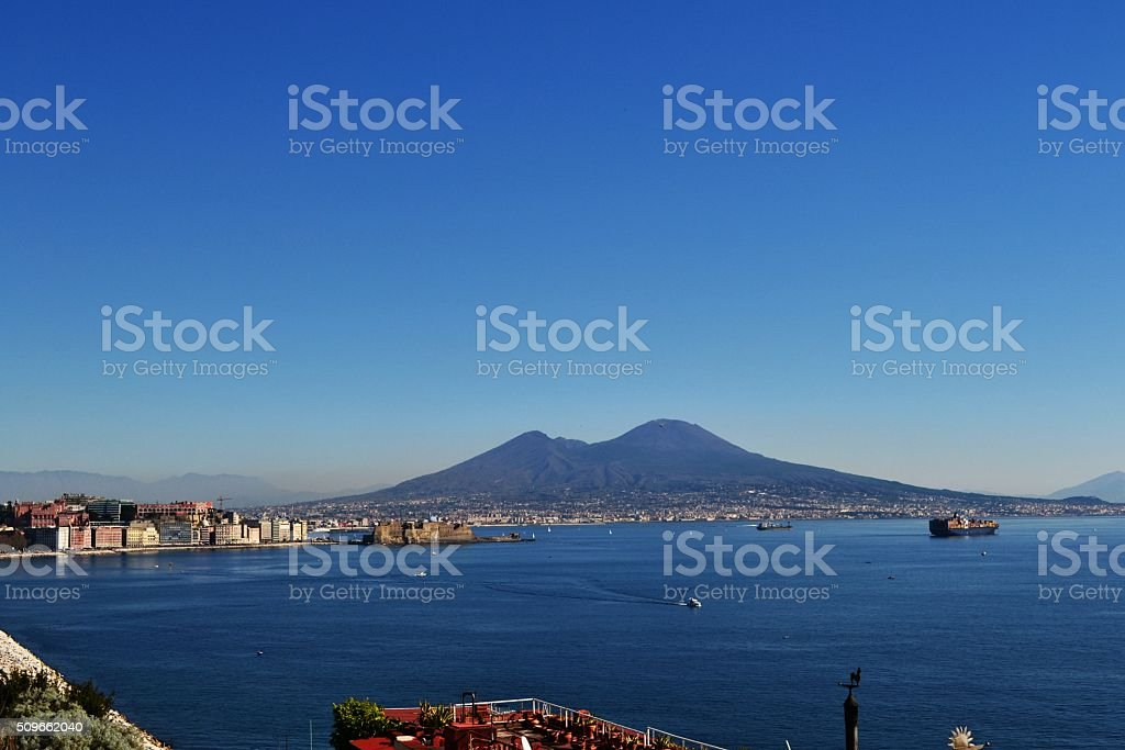 Napoli, golfo stock photo
