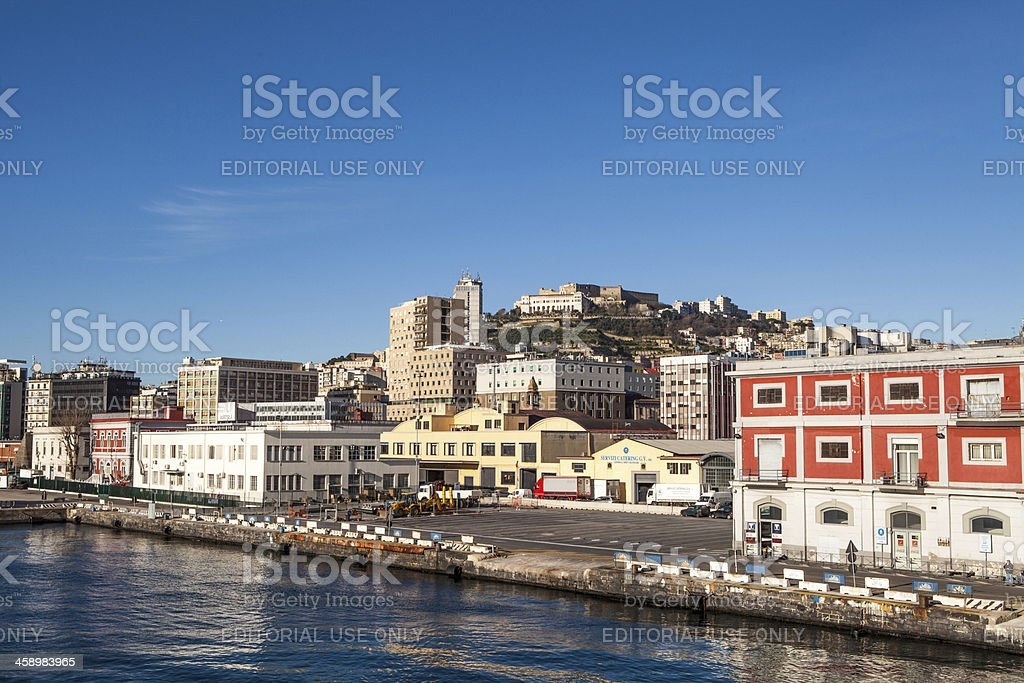 Naples Harbor Seen from Ferry Boat royalty-free stock photo