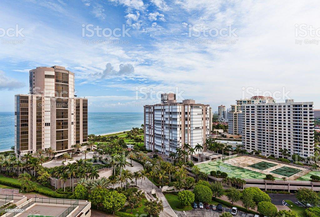 Naples Highrises on the Beach stock photo