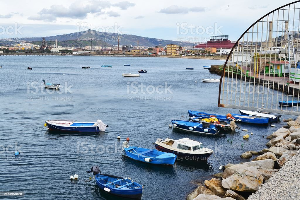 Napoli, Italy. Porto di Nisida stock photo