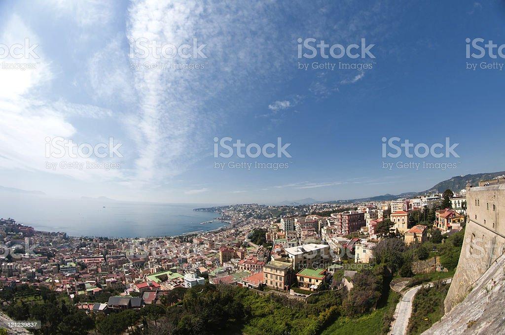 Naples Italy - Window on the city stock photo