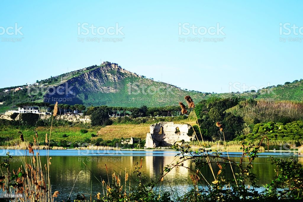 Naples, Lago d'averno stock photo