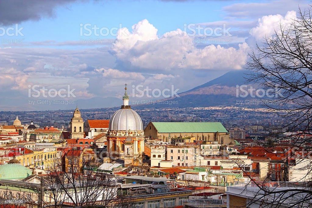 Naples old town, Italy stock photo