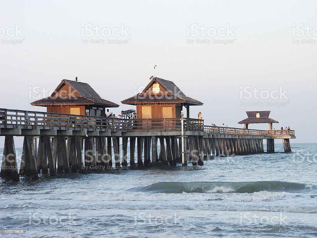 Naples Pier at Sunrise royalty-free stock photo