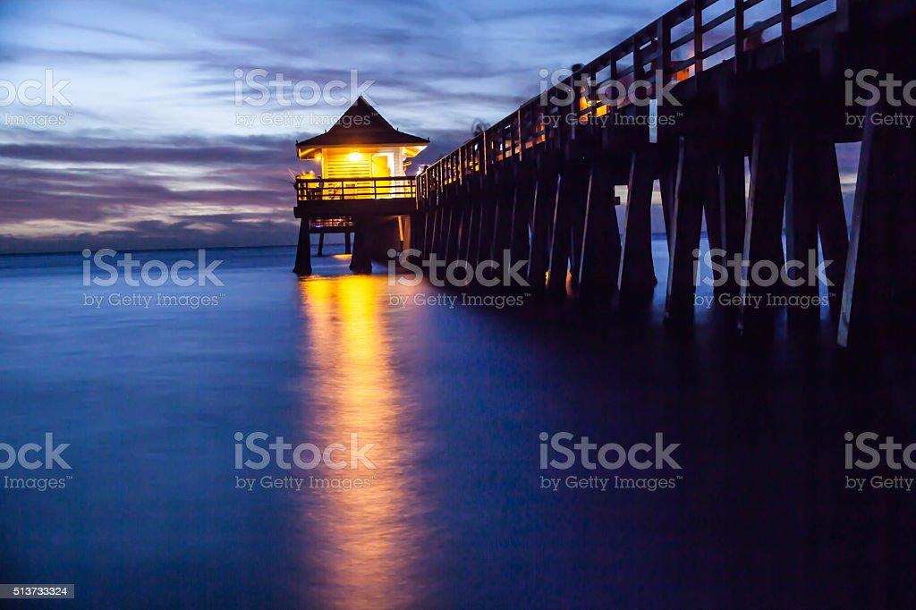 Naples pier , Florida stock photo