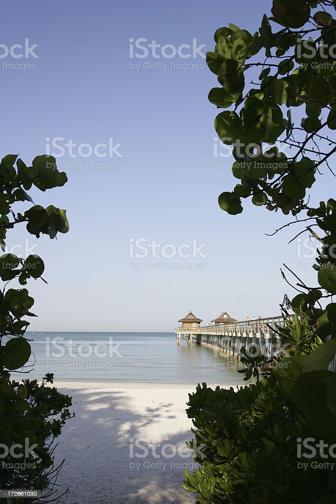 Naples Pier royalty-free stock photo