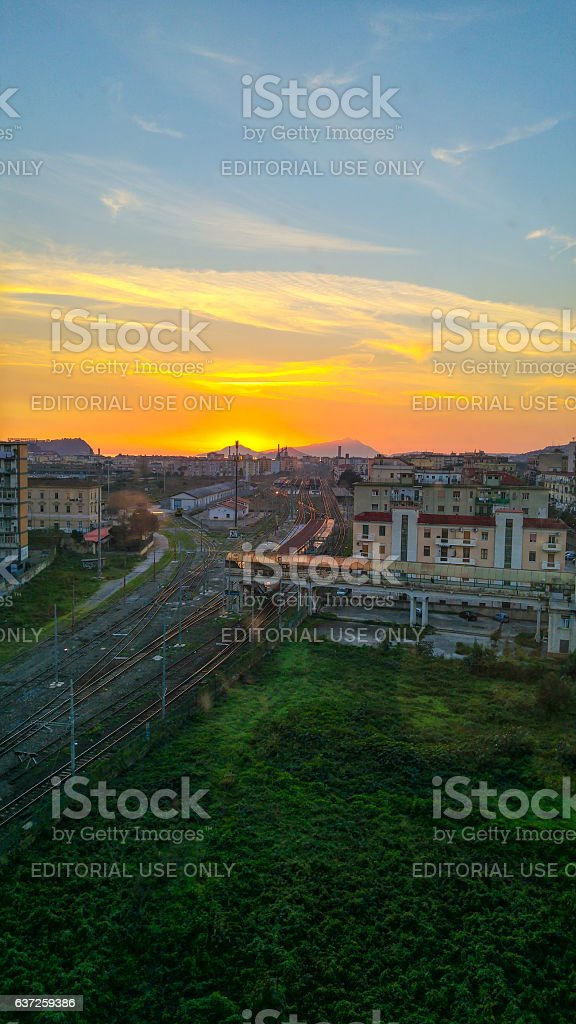 Naples View in Fuorigrotta stock photo