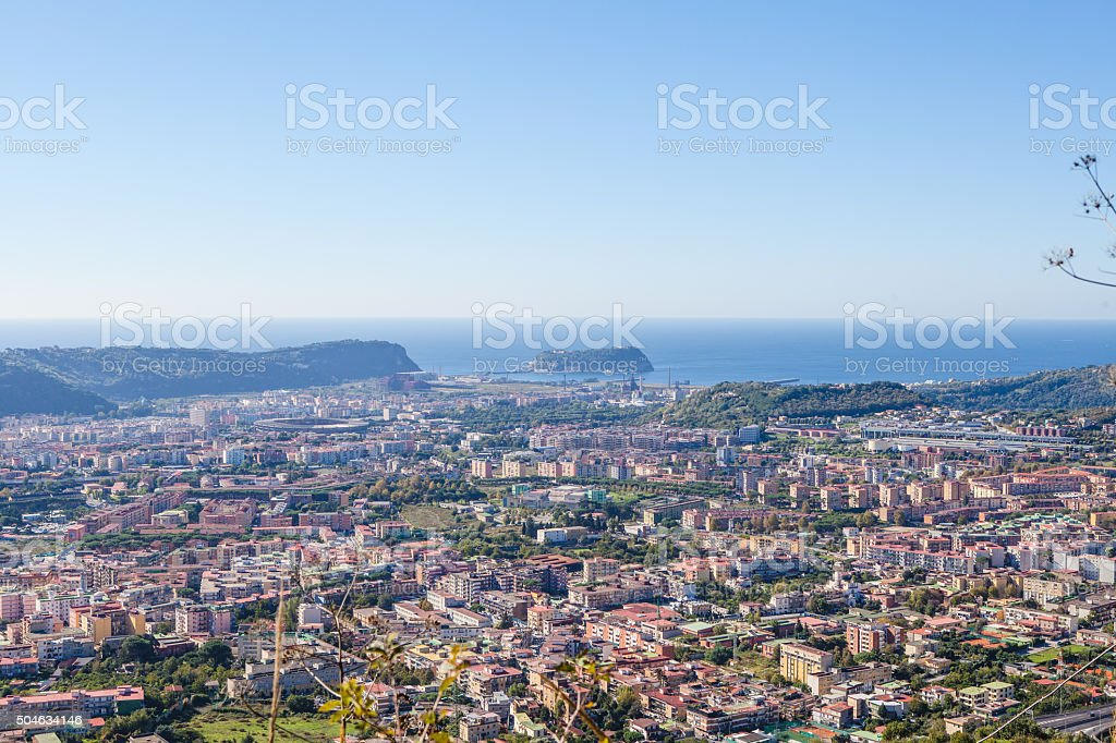 Naples View with Islands stock photo