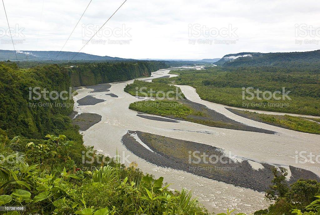 Napo River in Ecuador stock photo