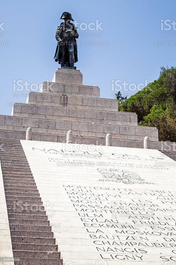 Napoleon Bonaparte, copper statue in Ajaccio stock photo