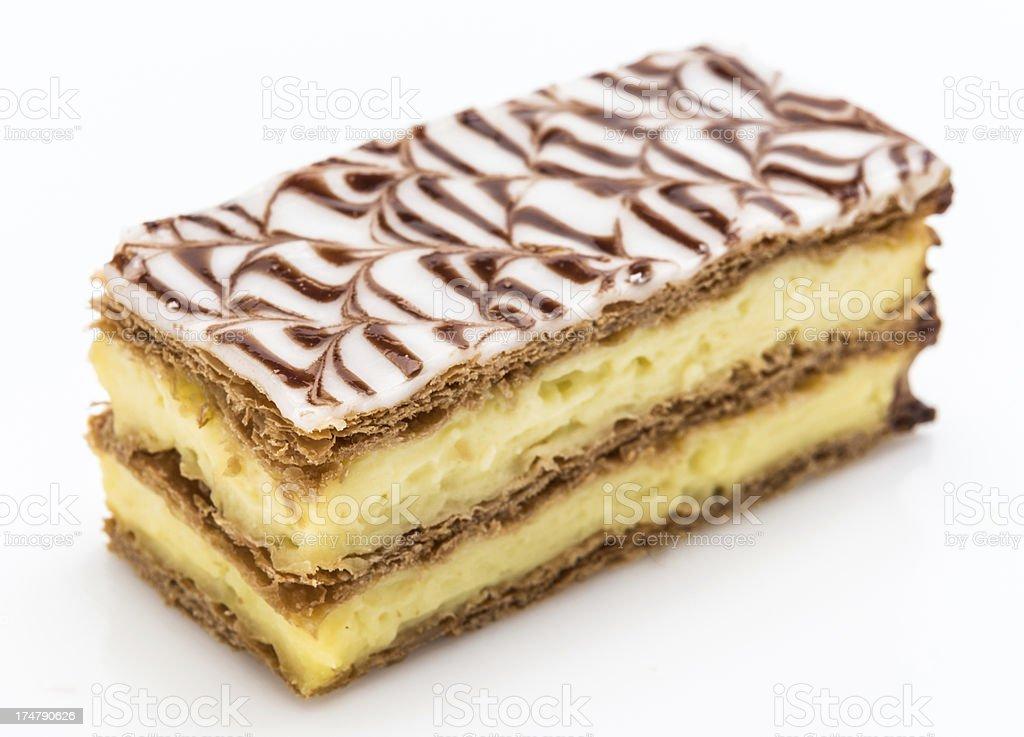 Napoleon cake royalty-free stock photo