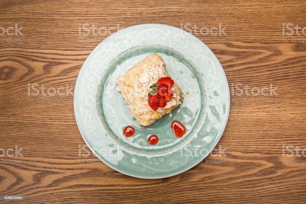 Napoleon cake stock photo