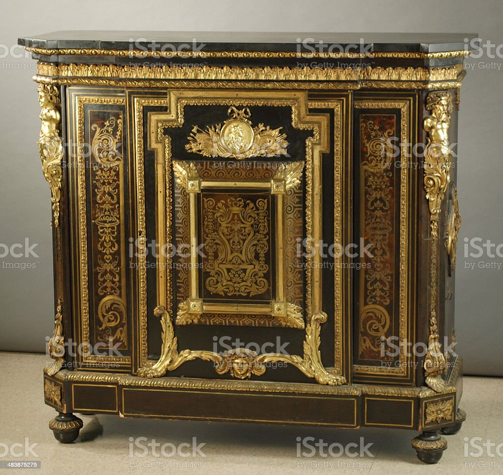 Napoleon III Ormolu, Boulle Cabinet, 19th Century stock photo